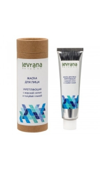 Маска для лица «Укрепляющая» с розовой морской солью и голубой глиной, LEVRANA, 30 мл
