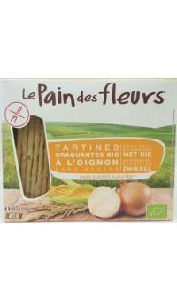 Хлебцы органические с луком (не содержит глютен), Le Pain des fleurs, 150 г