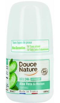Органический Шариковый дезодорант АЛОЭ ВЕРА, Douce Nature, 50мл