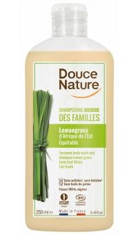 Органический шампунь для волос и тела с экстрактом Лемонграсса, Douce Nature, 250 мл