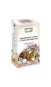"""Пшеничная лапша с грибами шиитаке, """"Гурмайор"""", 220 г"""