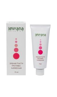 Зубная паста противокариесная, LEVRANA, 75 мл