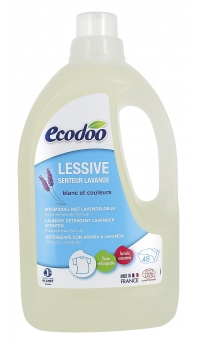 Экологическое концентрированное жидкое средство для стирки белья с Лавандой, ECODOO, 1.5л