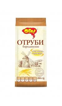 """Отруби """"Бородинские"""" экструдированные, """"ОГО"""",200 г"""