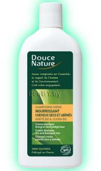 БИО Шампунь-крем для сухих волос с маслом карите Douce Nature, 300мл
