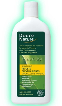 БИО шампунь для светлых и окрашенных волос с ромашкой  и маслом баобаба Douce Nature, 300 мл