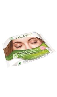 Влажные салфетки для снятия макияжа, Organyc, 20шт