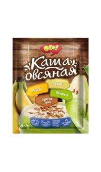 """Каша овсяная с яблоком, бананом, грушей, и семенами льна, """"ОГО"""",50 г"""
