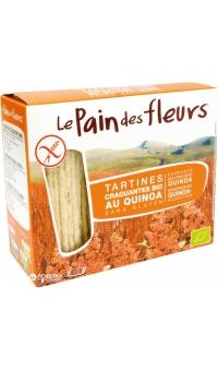 Хлебцы органические с киноа (не содержит глютен), Le Pain des fleurs, 150 г
