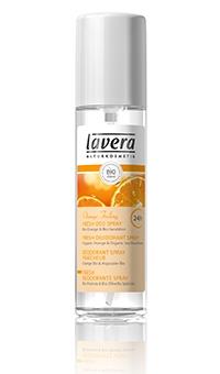 БИО дезодорант-спрей «Апельсиновое чувство » 24 часа Lavera (Германия), 75мл